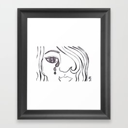 Pop Art Tears Framed Art Print