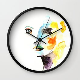 WATERCOLOR FACE Wall Clock