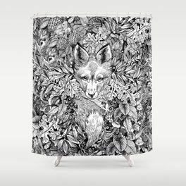 hidden fox Shower Curtain