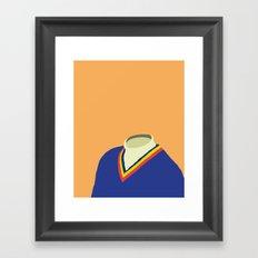 Neck Sweater illustration Framed Art Print