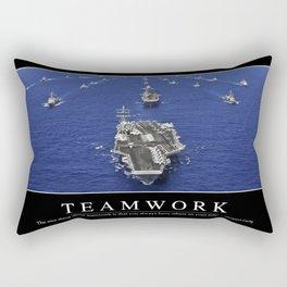 Teamwork: Inspirational Quote and Motivational Poster Rectangular Pillow