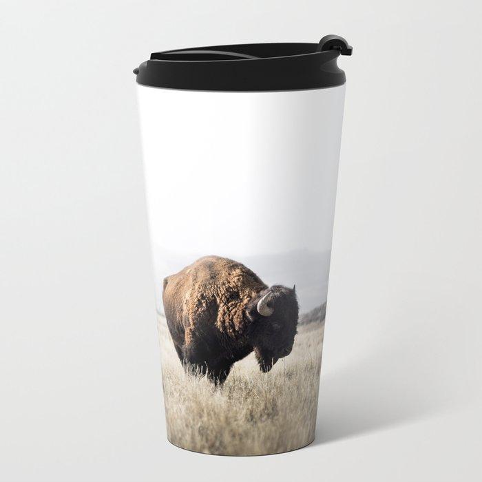 Bison stance Metal Travel Mug