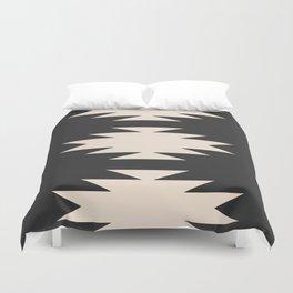 Minimal Southwestern - Charcoal Duvet Cover