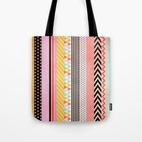tape Tote Bags featuring Washi Tape by Louise Machado