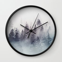 Winter Wonderland - Stormy weather Wall Clock