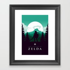 The Legend of Zelda - Green Version Framed Art Print