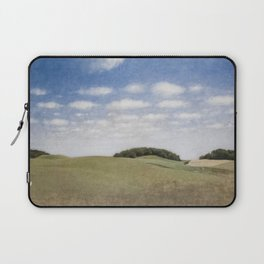 Rolling Hills, Tuscany, Italy landscape painting by Vilhelm Hammershoi Laptop Sleeve
