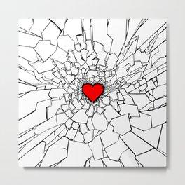 Heartbreaker III White Metal Print