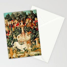 Hunt Of The Unicorn Medieval Tapestry Stationery Cards