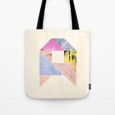 Collaged Tangram Alphabet - A Tote Bag