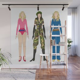 Triple Madge American Life Wall Mural