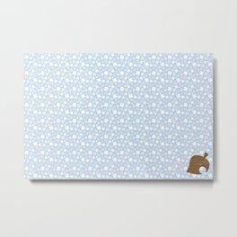 Animal Crossing Winter Leaf Metal Print