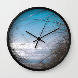 Beach Sand Dunes and Grass on the Oregon Coast Wall Clock
