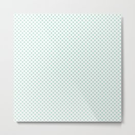 Honeydew Polka Dots Metal Print