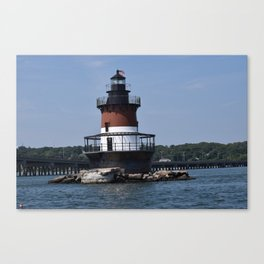 Plum Lighthouse Canvas Print