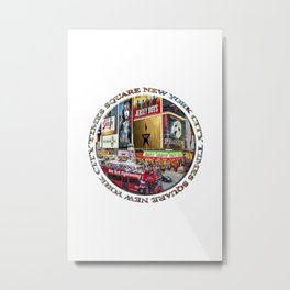 Times Square New York City (badge emblem on white) Metal Print