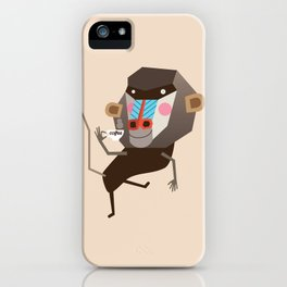 Baboon & Coffee iPhone Case