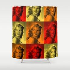 Rita Hayworth Color Shower Curtain