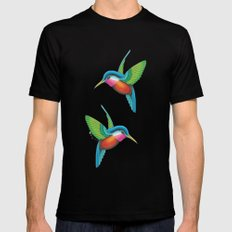 Hummingbirds  Black Mens Fitted Tee MEDIUM