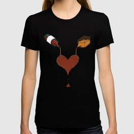 Love Cocktails and Hooch Hearts T-shirt