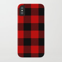Red Lumberjack Pattern iPhone Case