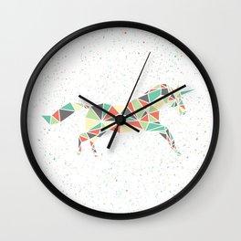 Running Unicorn Wall Clock