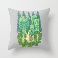 Sleeping Amongst Trees Throw Pillow