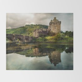 Landscape with an old castle Throw Blanket