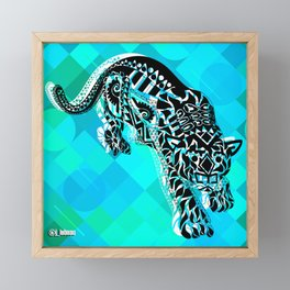 Cougar from the blue Sky ecopop Framed Mini Art Print