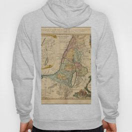 Vintage Map Print - 1750 map of Palestine published by Homannsche Erben Hoody