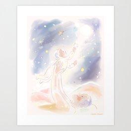 Reach for the star Art Print