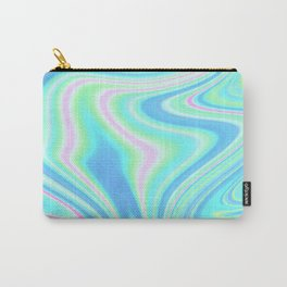 Abstract Holographic Iridescent Carry-All Pouch