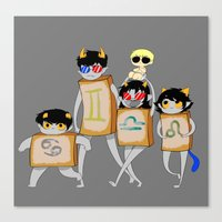 homestuck Canvas Prints featuring Homestuck: The Boxtrolls by Techno Cide