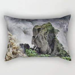 Chaotic water view Rectangular Pillow