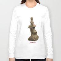 ballerina Long Sleeve T-shirts featuring ballerina by Francesco Mestria