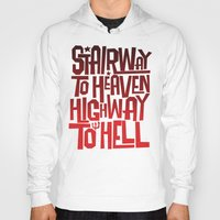 acdc Hoodies featuring HEAVEN AND HELL by All Kings