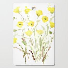 Pretty, Delicate, Happy, Yellow Buttercups Cutting Board