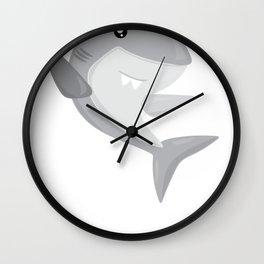Friendly Sharks Great White Shark Wall Clock