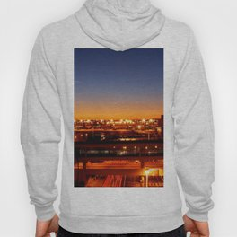 Airport Sunset Time Lapse Hoody