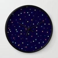 constellations Wall Clocks featuring Constellations by Jenna Mhairi