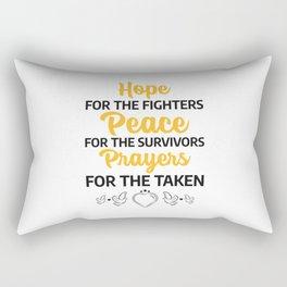 world cancer day commemorative Rectangular Pillow