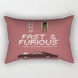 Pixel Art Fast And Furious Rectangular Pillow