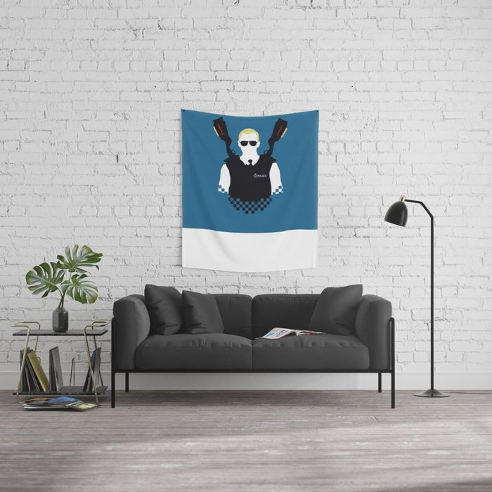 Here Come The Fuzz Wall Tapestry