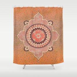 Mandala ornament orange Shower Curtain