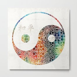 Yin And Yang - Colorful Peace - By Sharon Cummings Metal Print