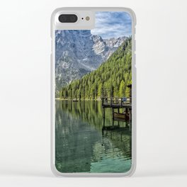 Lake Braies in Italy Clear iPhone Case