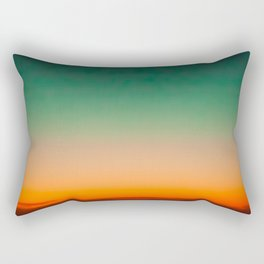 Green and Yellow Magic Dawn in the Sky (Vintage Nature Photography) Rectangular Pillow