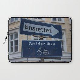 Copenhagen street signs.jpg Laptop Sleeve