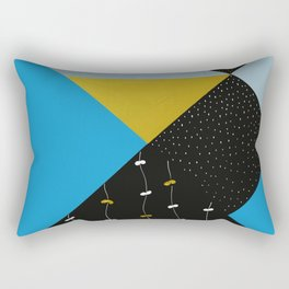 Garden In Tangrams Rectangular Pillow