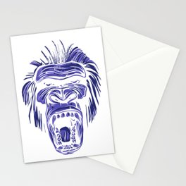 GORILLA KING KONG - Blue Stationery Cards